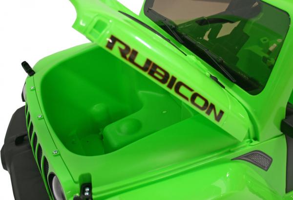 Masinuta electrica 4x4 Premier Jeep Wrangler Rubicon, 12V, roti cauciuc EVA, scaun piele ecologica, verde 5