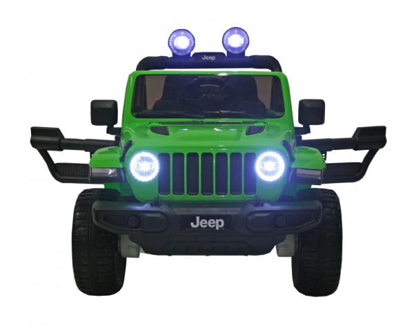 Masinuta electrica 4x4 Premier Jeep Wrangler Rubicon, 12V, roti cauciuc EVA, scaun piele ecologica, verde 1