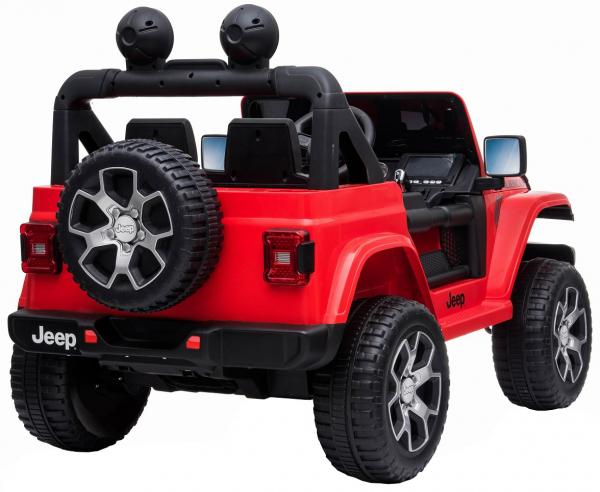 Masinuta electrica 4x4 Premier Jeep Wrangler Rubicon, 12V, roti cauciuc EVA, scaun piele ecologica, rosu [1]