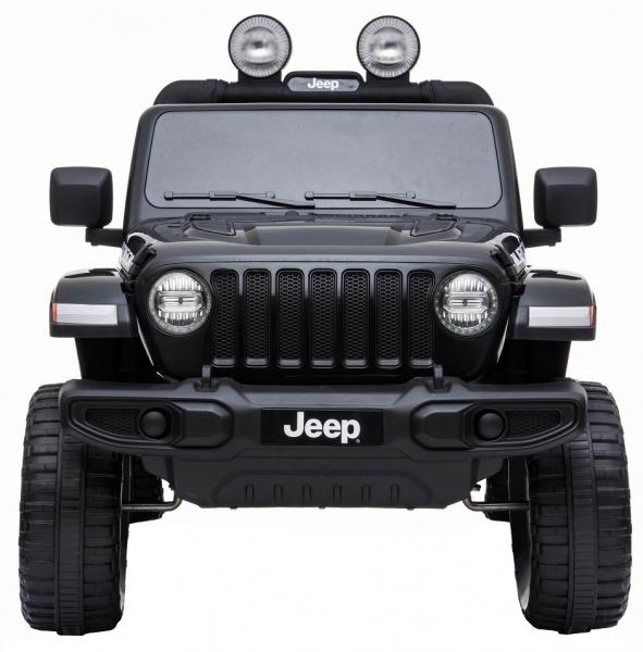 Masinuta electrica 4x4 Premier Jeep Wrangler Rubicon, 12V, roti cauciuc EVA, scaun piele ecologica, negru [1]