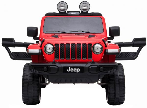 Masinuta electrica 4x4 Premier Jeep Wrangler Rubicon, 12V, roti cauciuc EVA, scaun piele ecologica, rosu [2]