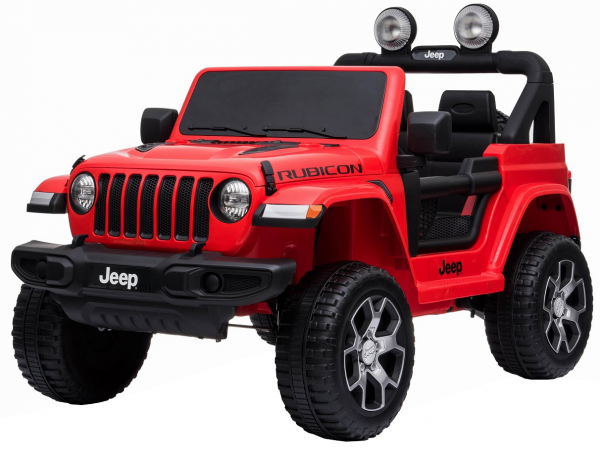 Masinuta electrica 4x4 Premier Jeep Wrangler Rubicon, 12V, roti cauciuc EVA, scaun piele ecologica, rosu [4]