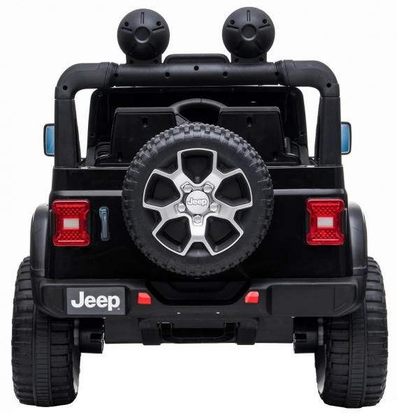 Masinuta electrica 4x4 Premier Jeep Wrangler Rubicon, 12V, roti cauciuc EVA, scaun piele ecologica, negru [2]