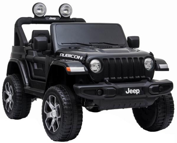 Masinuta electrica 4x4 Premier Jeep Wrangler Rubicon, 12V, roti cauciuc EVA, scaun piele ecologica, negru [5]