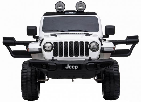 Masinuta electrica 4x4 Premier Jeep Wrangler Rubicon, 12V, roti cauciuc EVA, scaun piele ecologica, alb [1]