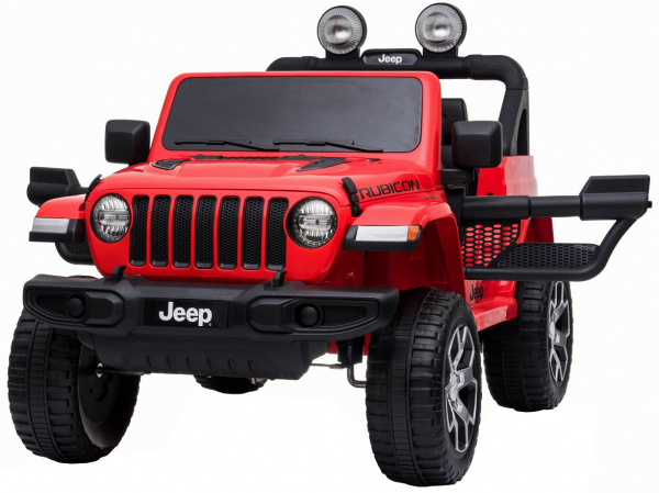 Masinuta electrica 4x4 Premier Jeep Wrangler Rubicon, 12V, roti cauciuc EVA, scaun piele ecologica, rosu [8]