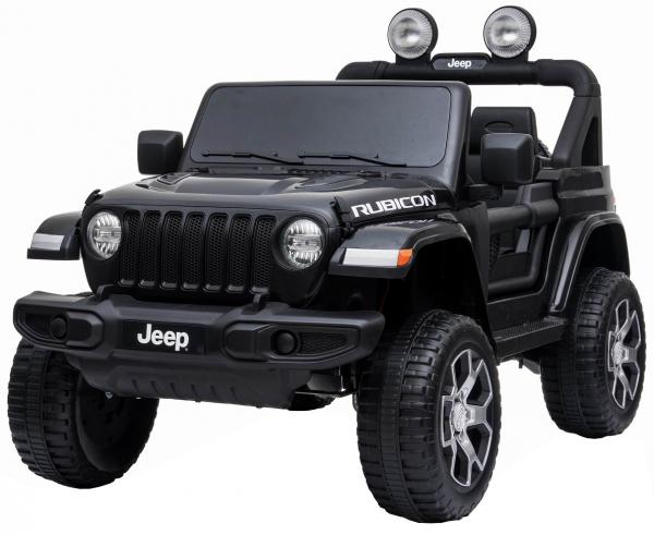 Masinuta electrica 4x4 Premier Jeep Wrangler Rubicon, 12V, roti cauciuc EVA, scaun piele ecologica, negru [11]