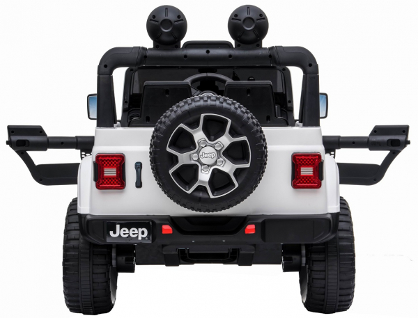 Masinuta electrica 4x4 Premier Jeep Wrangler Rubicon, 12V, roti cauciuc EVA, scaun piele ecologica, alb [4]