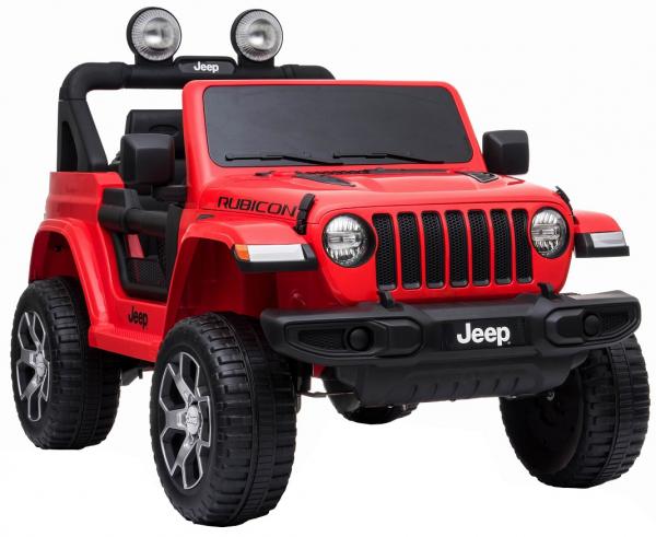 Masinuta electrica 4x4 Premier Jeep Wrangler Rubicon, 12V, roti cauciuc EVA, scaun piele ecologica, rosu [9]