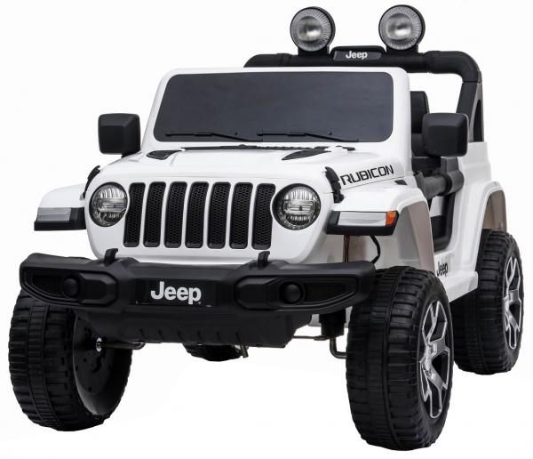 Masinuta electrica 4x4 Premier Jeep Wrangler Rubicon, 12V, roti cauciuc EVA, scaun piele ecologica, alb [6]