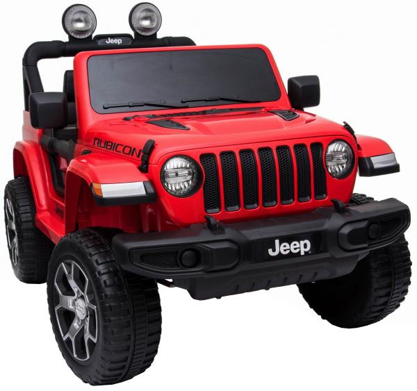 Masinuta electrica 4x4 Premier Jeep Wrangler Rubicon, 12V, roti cauciuc EVA, scaun piele ecologica, rosu [12]