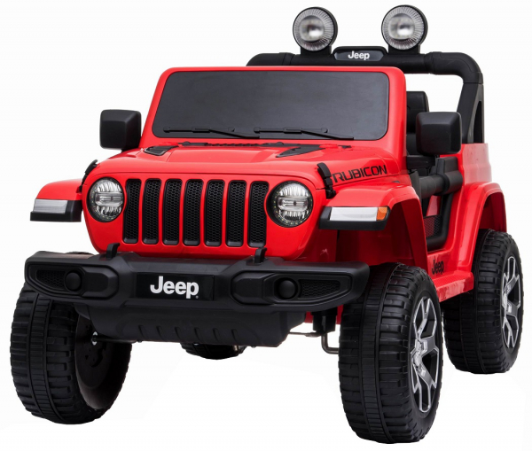 Masinuta electrica 4x4 Premier Jeep Wrangler Rubicon, 12V, roti cauciuc EVA, scaun piele ecologica, rosu [0]