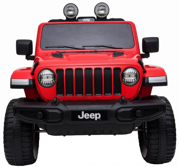 Masinuta electrica 4x4 Premier Jeep Wrangler Rubicon, 12V, roti cauciuc EVA, scaun piele ecologica, rosu [16]