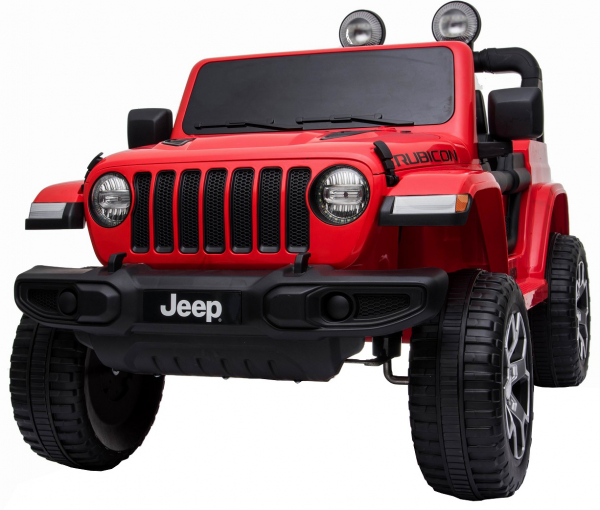 Masinuta electrica 4x4 Premier Jeep Wrangler Rubicon, 12V, roti cauciuc EVA, scaun piele ecologica, rosu [18]
