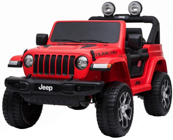 Masinuta electrica 4x4 Premier Jeep Wrangler Rubicon, 12V, roti cauciuc EVA, scaun piele ecologica, rosu [19]