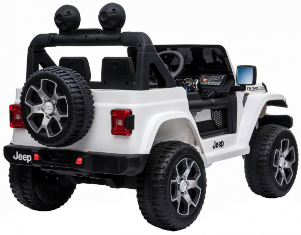 Masinuta electrica 4x4 Premier Jeep Wrangler Rubicon, 12V, roti cauciuc EVA, scaun piele ecologica 10