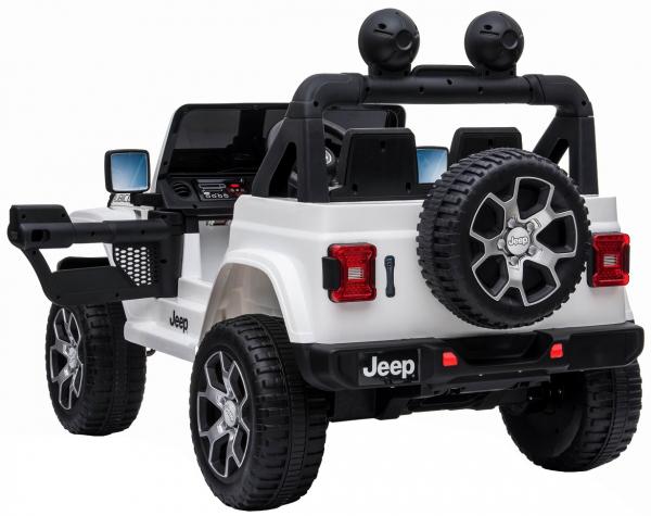 Masinuta electrica 4x4 Premier Jeep Wrangler Rubicon, 12V, roti cauciuc EVA, scaun piele ecologica, alb [11]