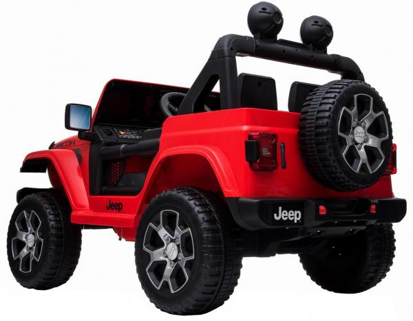 Masinuta electrica 4x4 Premier Jeep Wrangler Rubicon, 12V, roti cauciuc EVA, scaun piele ecologica, rosu [20]