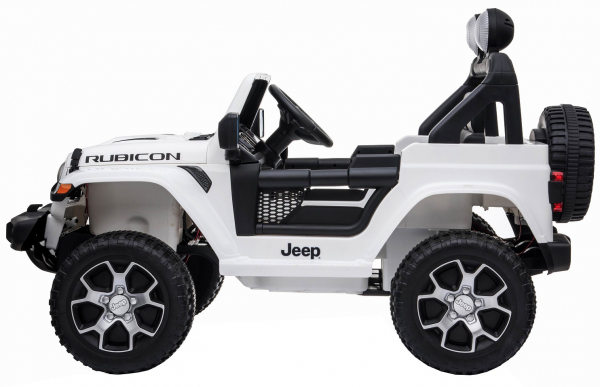 Masinuta electrica 4x4 Premier Jeep Wrangler Rubicon, 12V, roti cauciuc EVA, scaun piele ecologica, alb [12]