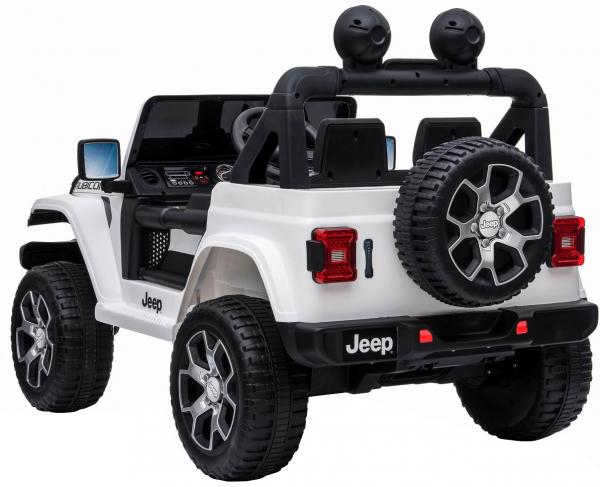 Masinuta electrica 4x4 Premier Jeep Wrangler Rubicon, 12V, roti cauciuc EVA, scaun piele ecologica, alb [13]