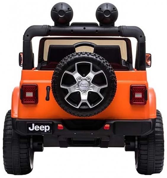 Masinuta electrica 4x4 Premier Jeep Wrangler Rubicon, 12V, roti cauciuc EVA, scaun piele ecologica, portocaliu [3]