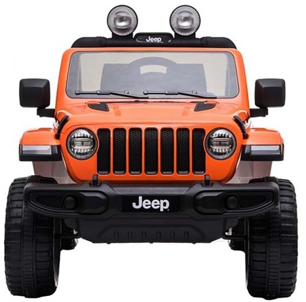 Masinuta electrica 4x4 Premier Jeep Wrangler Rubicon, 12V, roti cauciuc EVA, scaun piele ecologica, portocaliu [10]