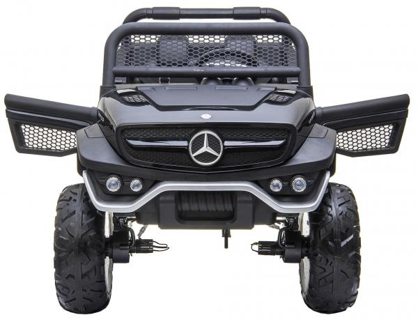 Masinuta electrica 4x4 Premier Mercedes Unimog, 12V, roti cauciuc EVA, scaun piele ecologica 11