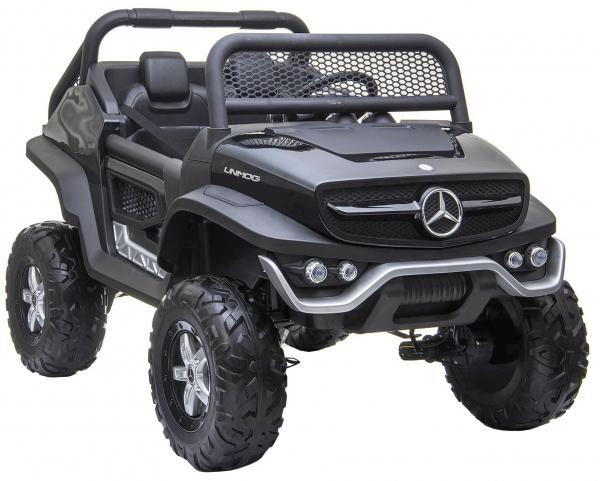 Masinuta electrica 4x4 Premier Mercedes Unimog, 12V, roti cauciuc EVA, scaun piele ecologica 10