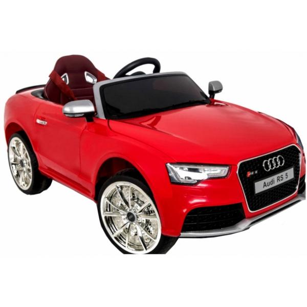 Masinuta electrica Premier Audi RS5, 12V, roti cauciuc EVA, scaun piele ecologica, rosie 6