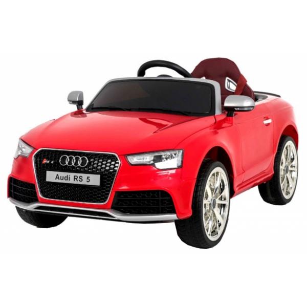 Masinuta electrica Premier Audi RS5, 12V, roti cauciuc EVA, scaun piele ecologica, rosie 0