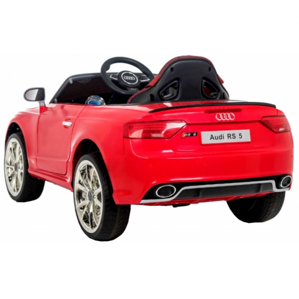 Masinuta electrica Premier Audi RS5, 12V, roti cauciuc EVA, scaun piele ecologica, rosie 2
