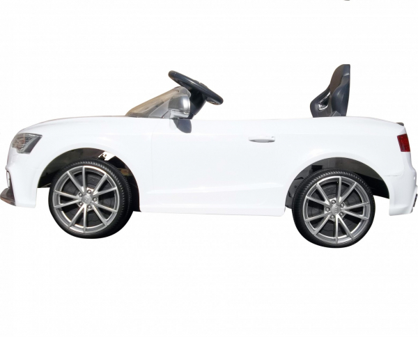 Masinuta electrica Premier Audi RS5, 12V, roti cauciuc EVA, scaun piele ecologica, alba [3]