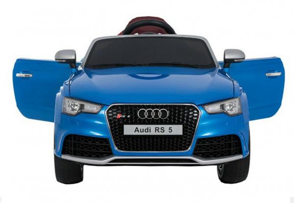 Masinuta electrica Premier Audi RS5, 12V, roti cauciuc EVA, scaun piele ecologica, albastra [1]
