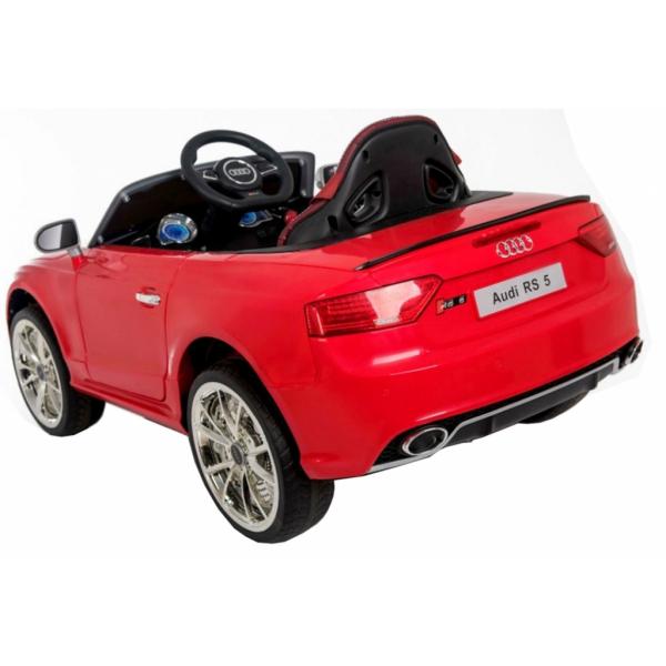 Masinuta electrica Premier Audi RS5, 12V, roti cauciuc EVA, scaun piele ecologica, rosie 4