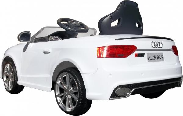 Masinuta electrica Premier Audi RS5, 12V, roti cauciuc EVA, scaun piele ecologica, alba [5]