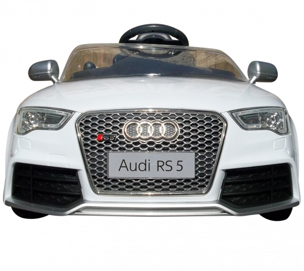 Masinuta electrica Premier Audi RS5, 12V, roti cauciuc EVA, scaun piele ecologica, alba [1]