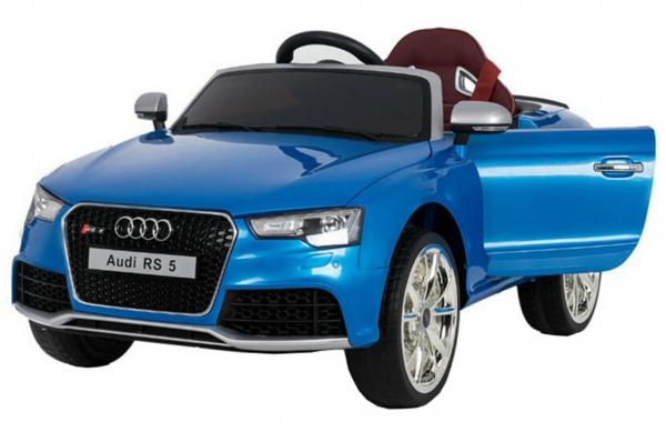 Masinuta electrica Premier Audi RS5, 12V, roti cauciuc EVA, scaun piele ecologica, albastra [4]