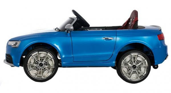 Masinuta electrica Premier Audi RS5, 12V, roti cauciuc EVA, scaun piele ecologica, albastra [3]