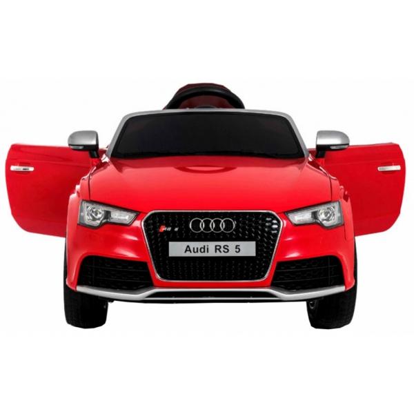 Masinuta electrica Premier Audi RS5, 12V, roti cauciuc EVA, scaun piele ecologica, rosie 1