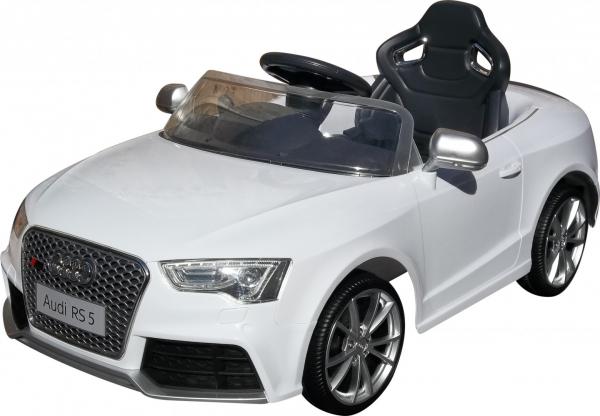 Masinuta electrica Premier Audi RS5, 12V, roti cauciuc EVA, scaun piele ecologica, alba [0]