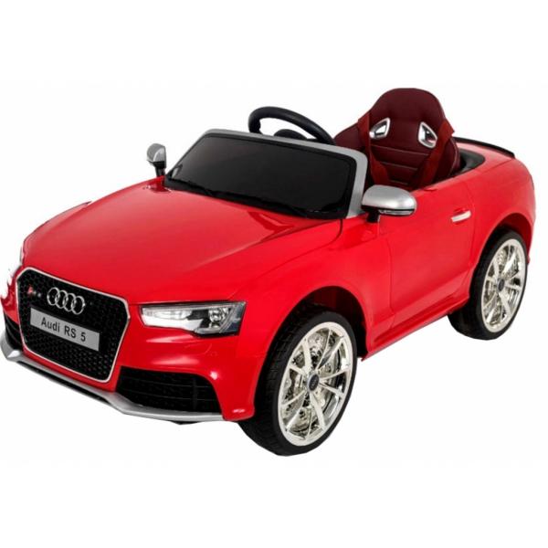 Masinuta electrica Premier Audi RS5, 12V, roti cauciuc EVA, scaun piele ecologica, rosie 5