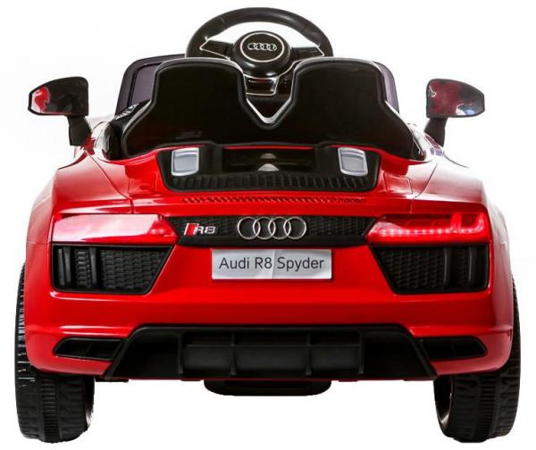 Masinuta electrica Premier Audi R8 Spyder, 12V, roti cauciuc EVA, scaun piele ecologica, rosie 5