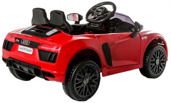 Masinuta electrica Premier Audi R8 Spyder, 12V, roti cauciuc EVA, scaun piele ecologica, rosie 3