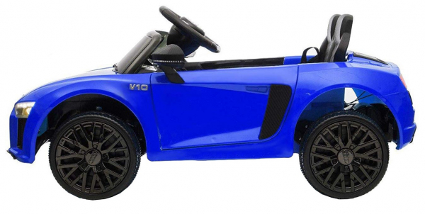 Masinuta electrica Premier Audi R8 Spyder, 12V, roti cauciuc EVA, scaun piele ecologica, albastra [4]
