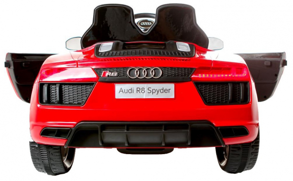 Masinuta electrica Premier Audi R8 Spyder, 12V, roti cauciuc EVA, scaun piele ecologica, rosie 6