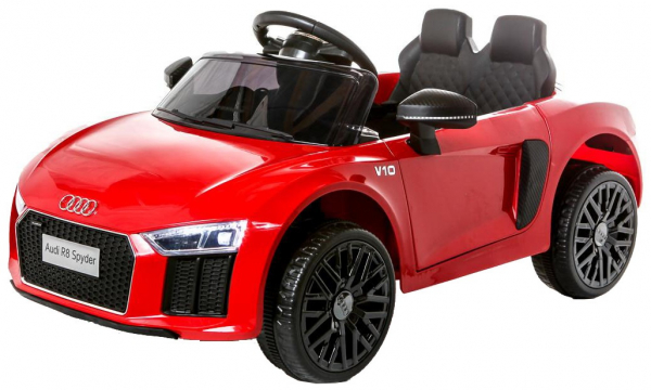 Masinuta electrica Premier Audi R8 Spyder, 12V, roti cauciuc EVA, scaun piele ecologica, rosie [0]