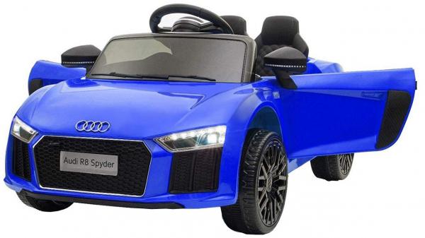Masinuta electrica Premier Audi R8 Spyder, 12V, roti cauciuc EVA, scaun piele ecologica, albastra [0]