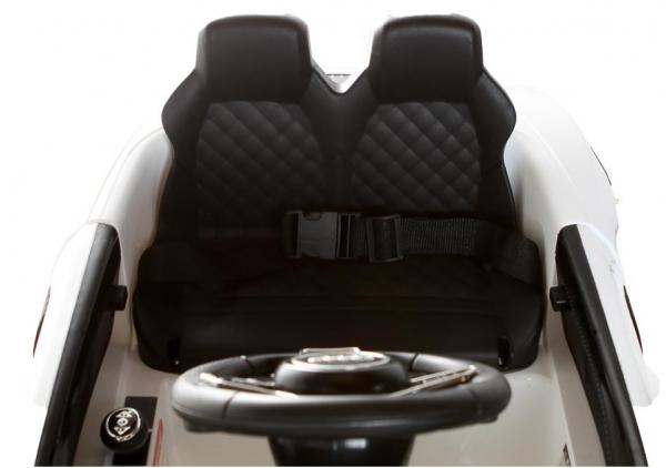 Masinuta electrica Premier Audi R8 Spyder, 12V, roti cauciuc EVA, scaun piele ecologica, alba [3]