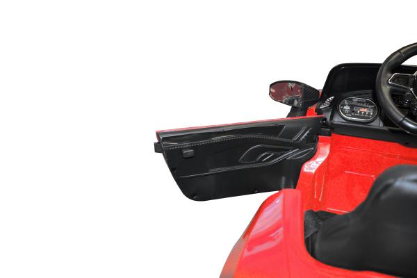 Masinuta electrica Premier Audi R8 Spyder, 12V, roti cauciuc EVA, scaun piele ecologica, rosie [7]