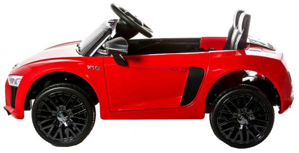 Masinuta electrica Premier Audi R8 Spyder, 12V, roti cauciuc EVA, scaun piele ecologica, rosie 2
